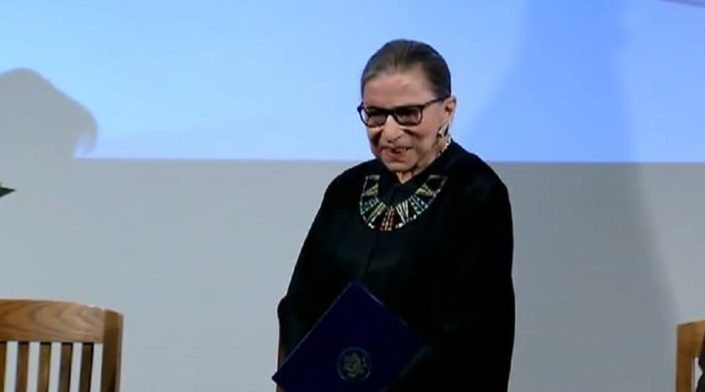 Ruth Bader Ginsburg's absence from Supreme Court arguments raises questions about impending requirement